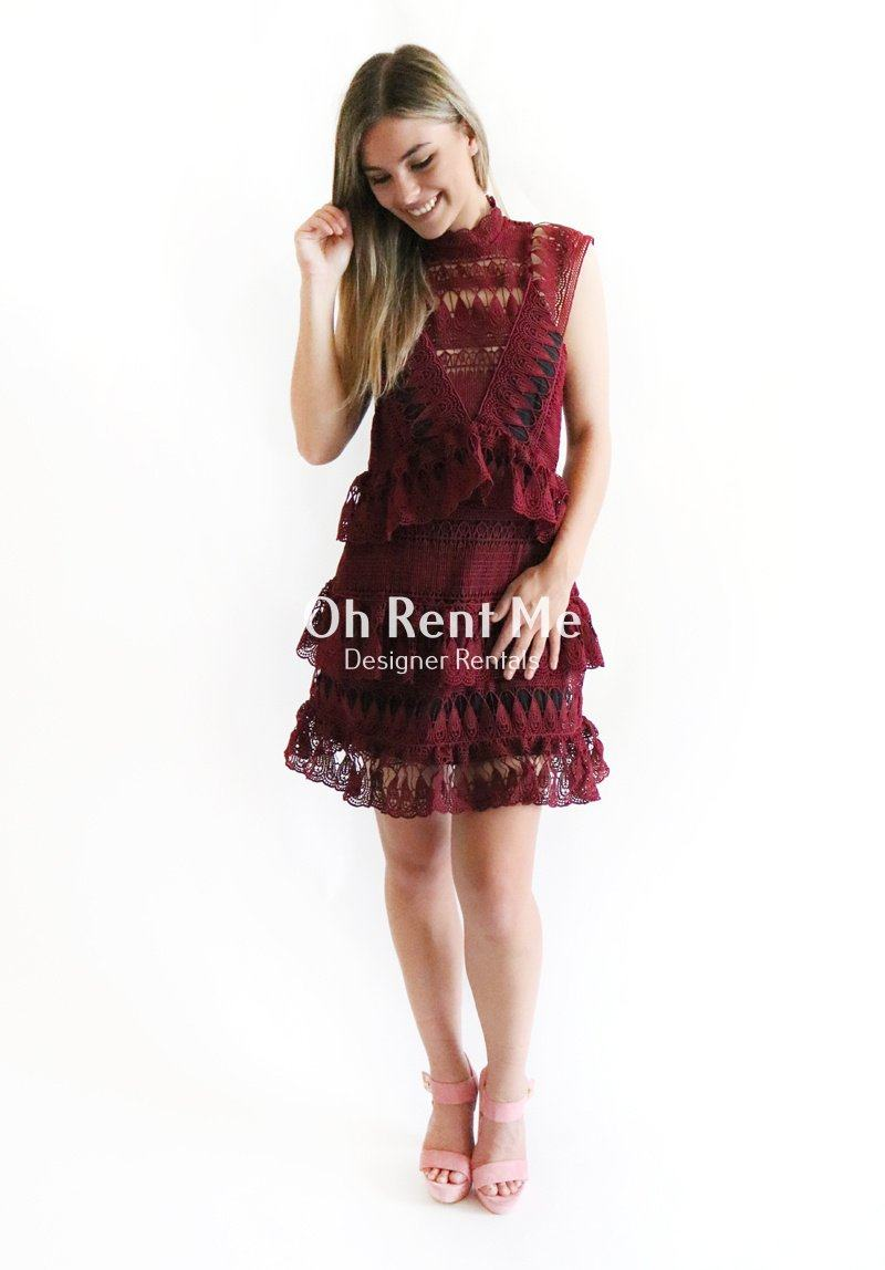 bf44eae45c4d0 Tiered Guipere Lace Mini Dress Clothing Self Portrait