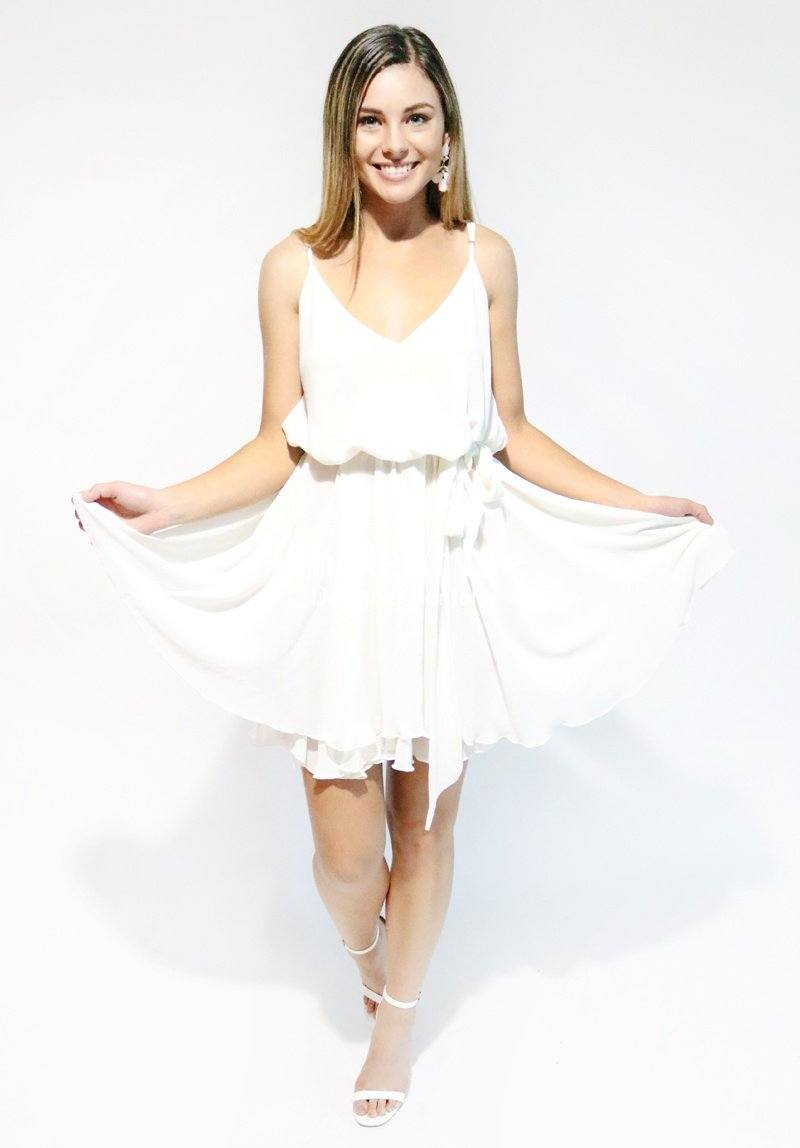Floating Dress White Clothing Miss Crabb