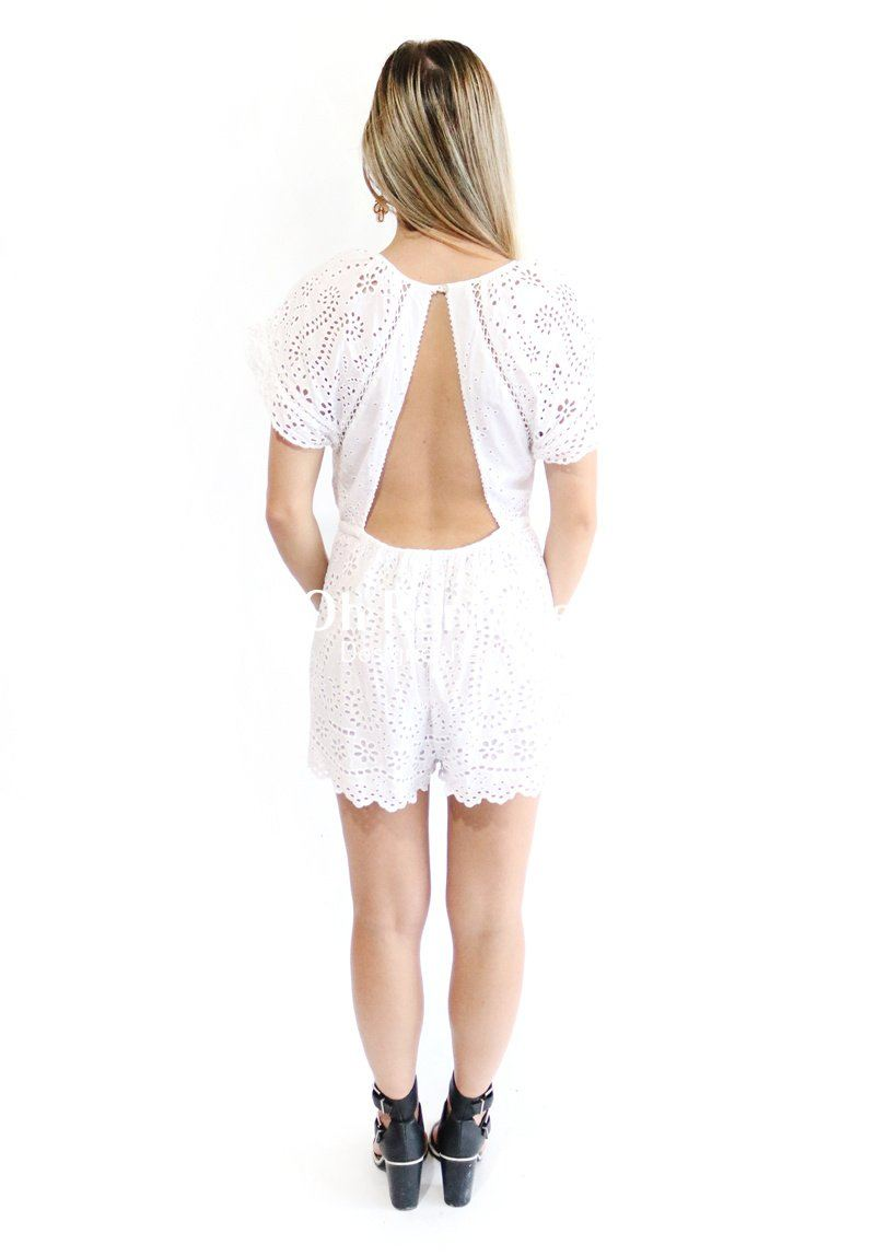 Hydra Broidery Flutter Playsuit Clothing Zimmermann