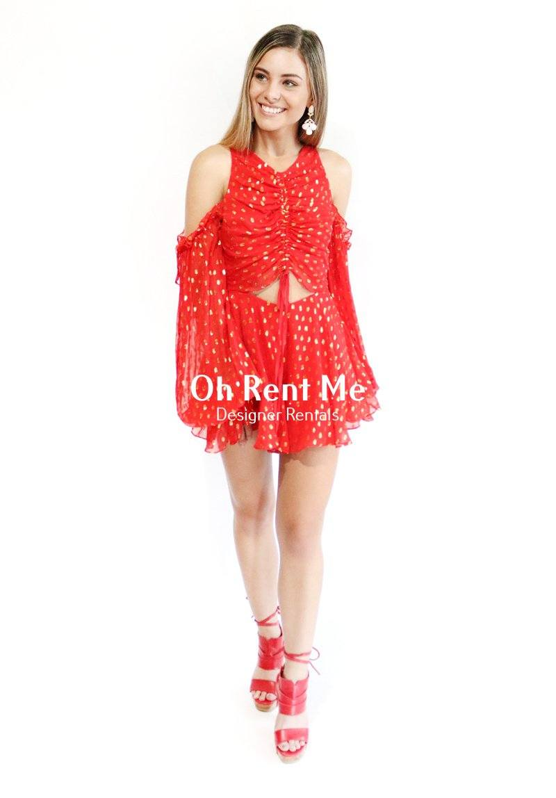 Did it Again Playsuit Red