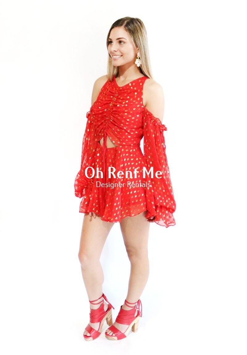Did it Again Playsuit Red Clothing Alice McCall