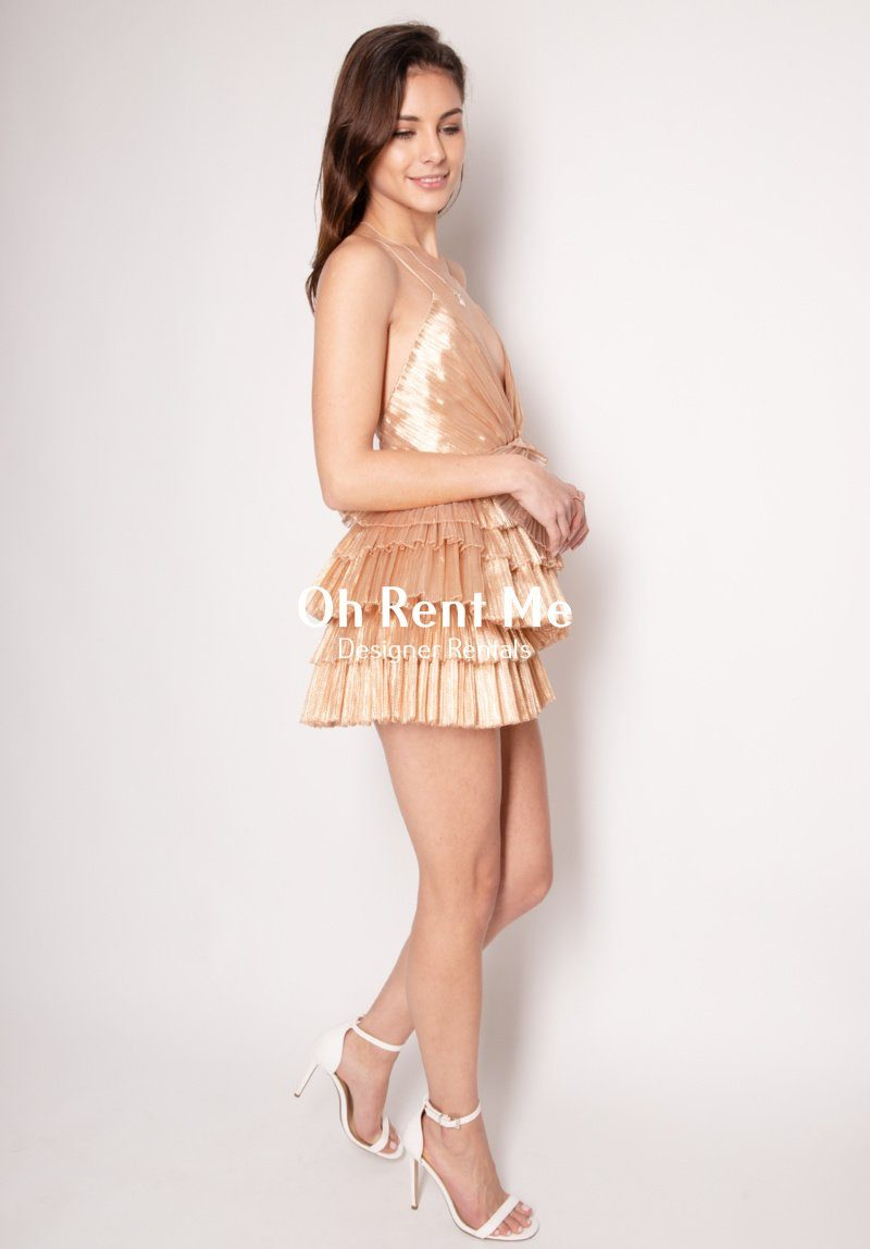Don't Be Shy Dress - Rose Gold Clothing Alice McCall