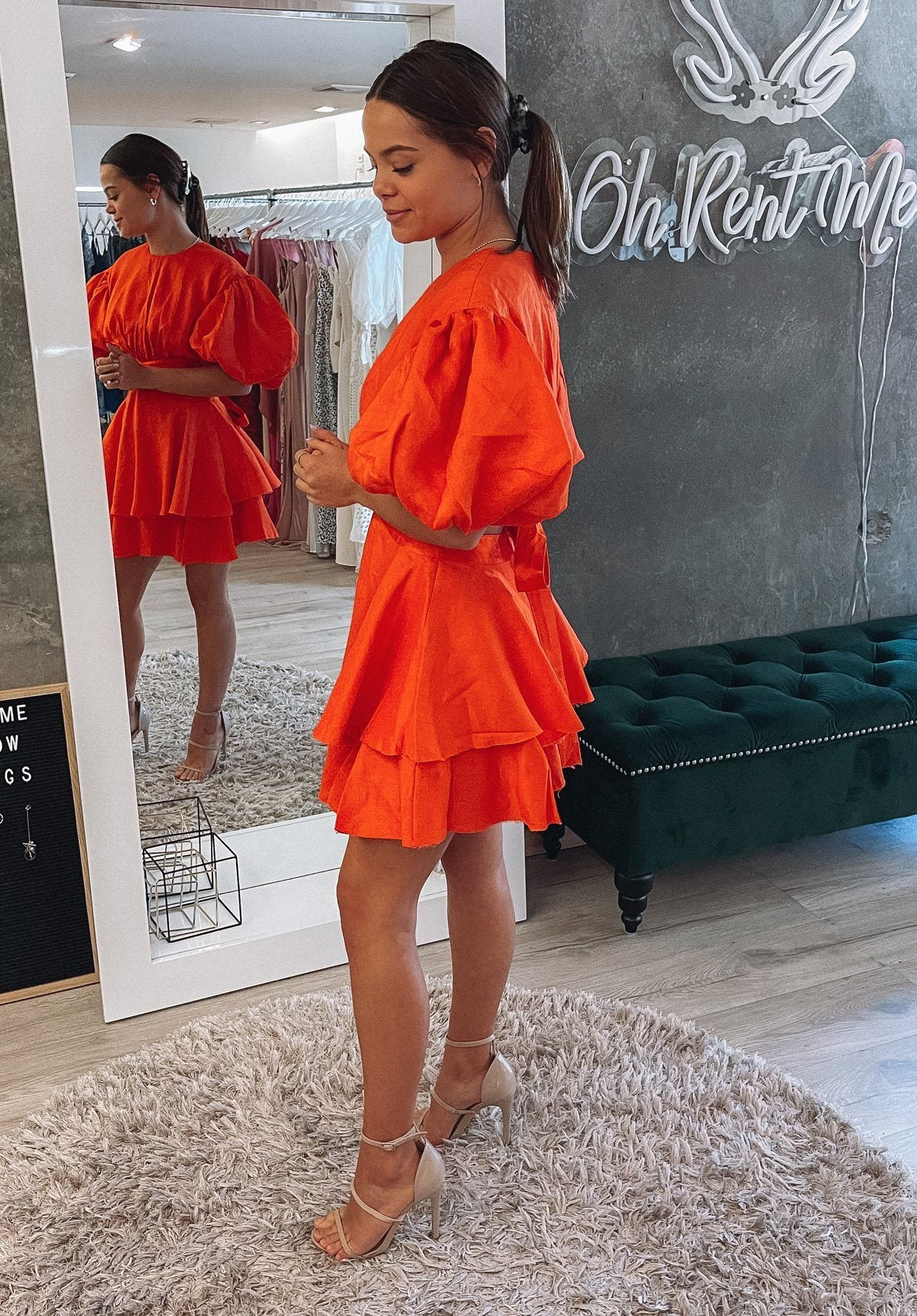 Gracious Cut Out Mini - Orange Clothing Aje
