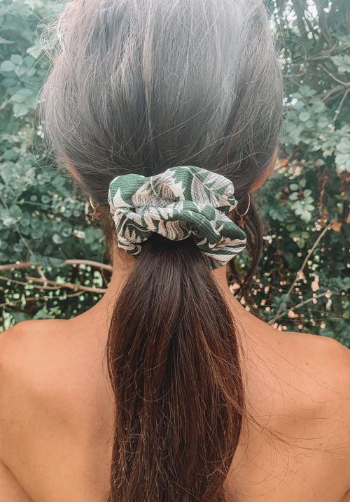 Green Palm Print Scrunchie Gift Card Oh Rent Me
