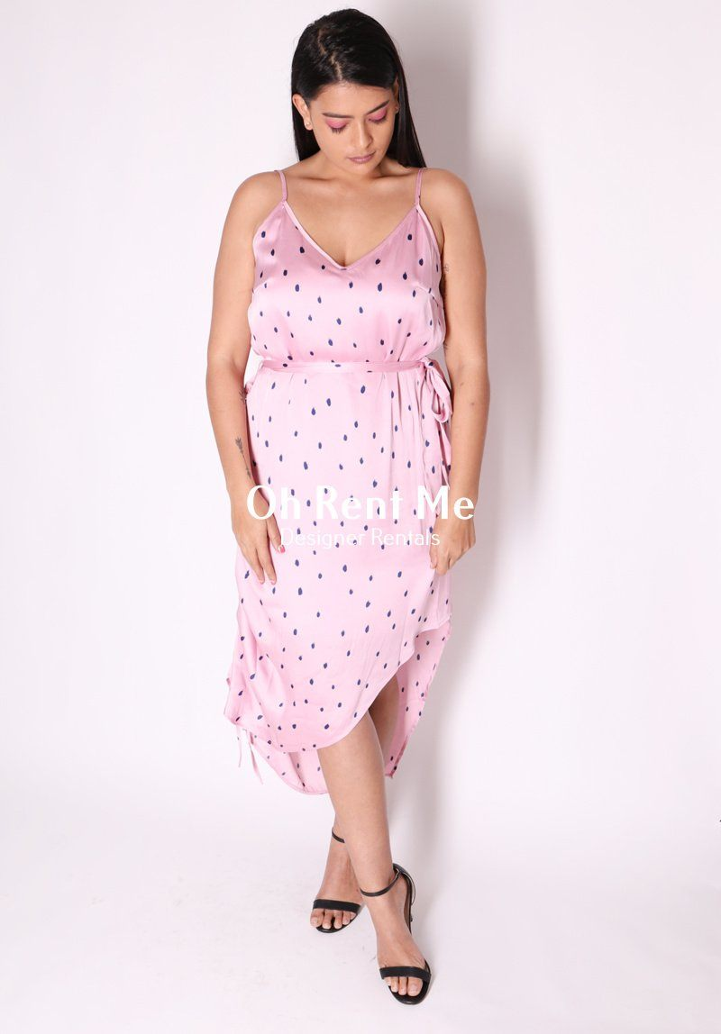 Greta Dress - Baby Pink Spots Clothing Pia Boutique