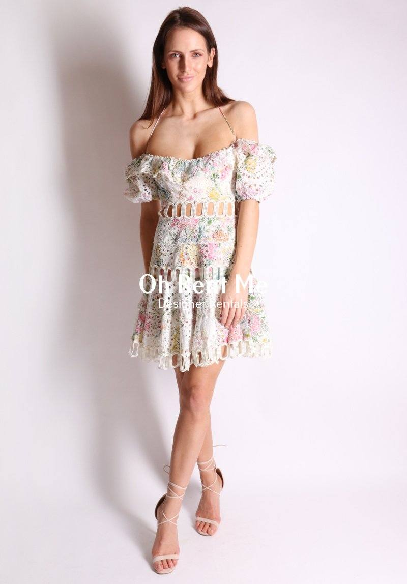Heathers Off Shoulder Dress Clothing Zimmermann