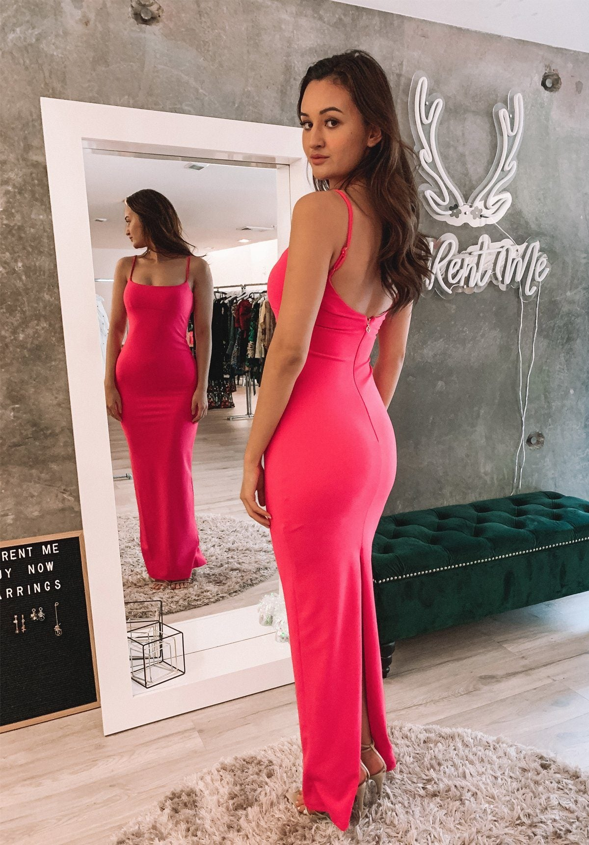 Bailey Gown - Hot Pink Clothing Nookie