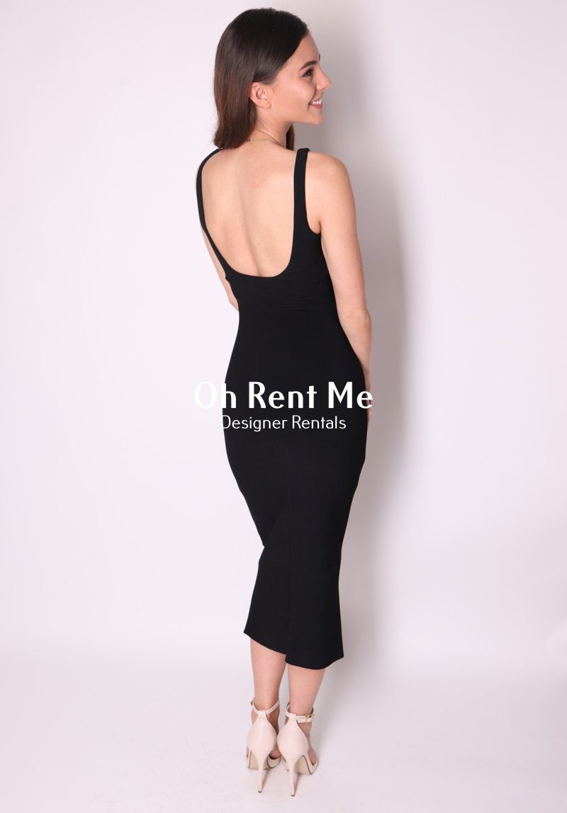 Karina Tuck Midi Dress - Black Clothing Bec and Bridge
