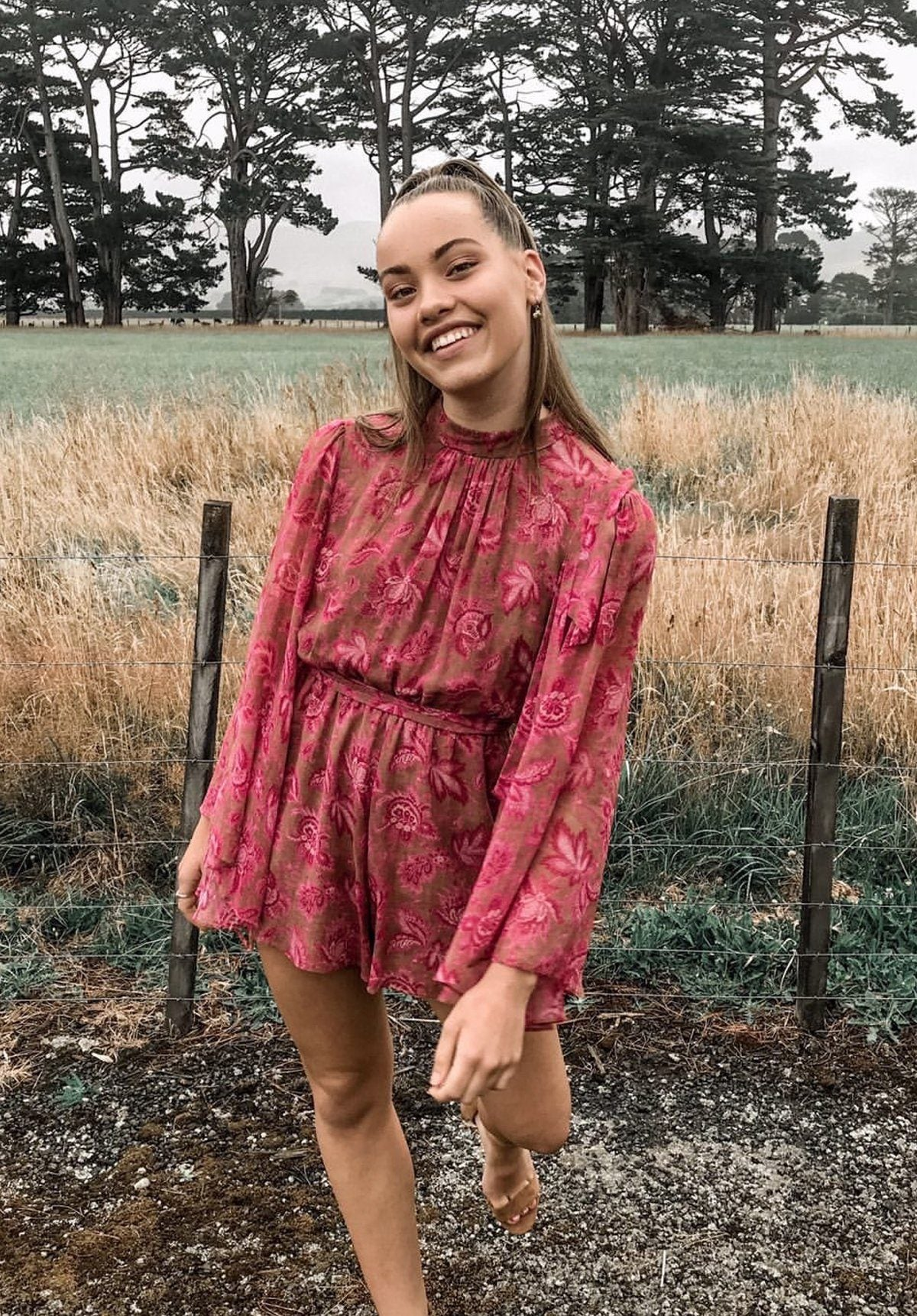 Karmic Flare Playsuit Clothing Zimmermann