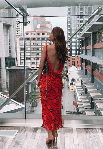 Drape Cocktail Maxi Crimson