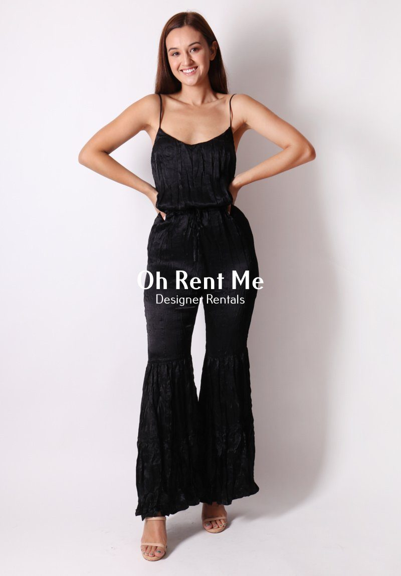 Love a Flare Jumpsuit - Black Clothing Coop