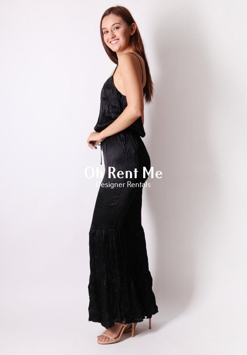 SELL - Love a Flare Jumpsuit - Black Gift Card Ex Rentals