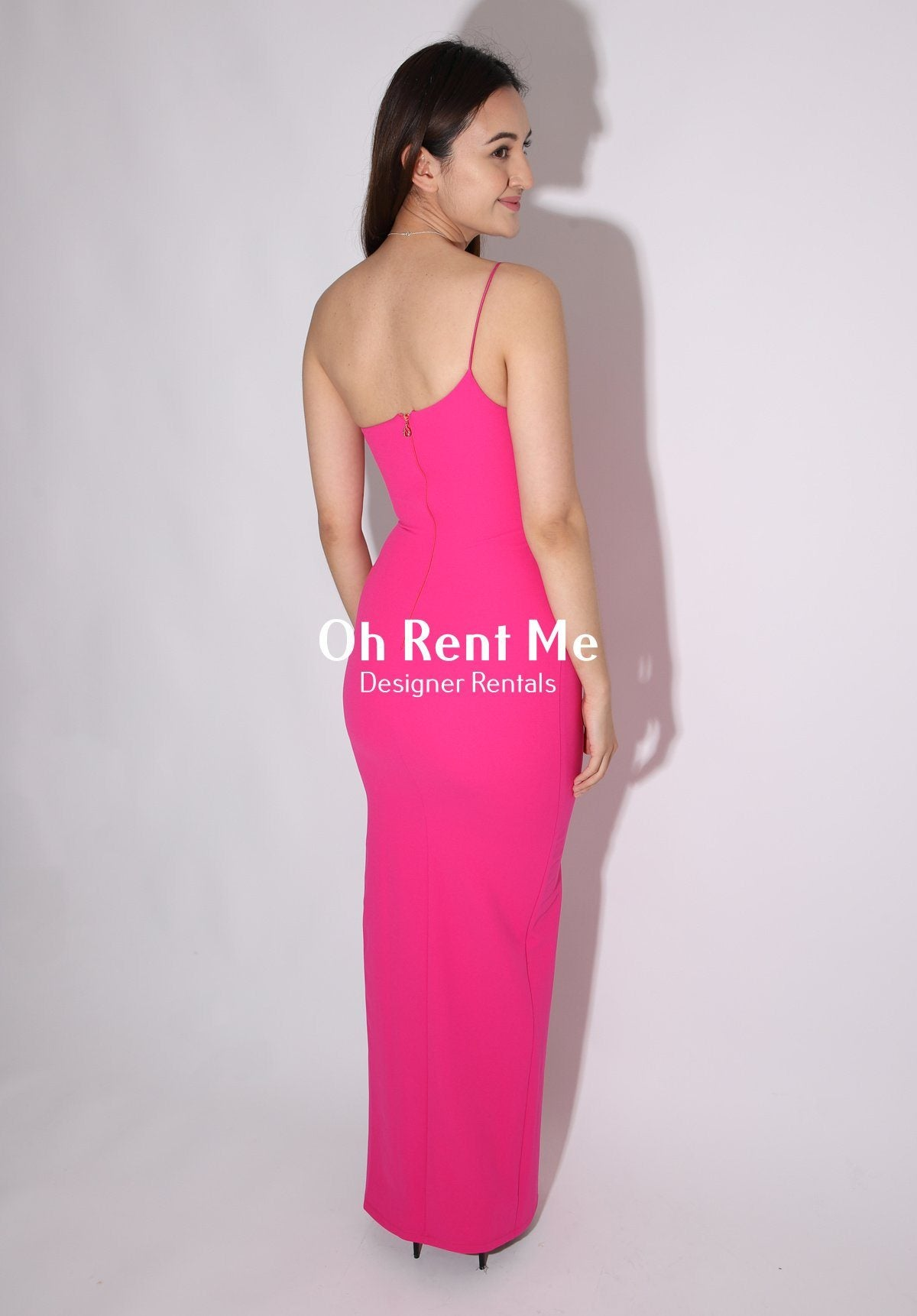 Lust One Shoulder Gown - Neon Pink Clothing Nookie