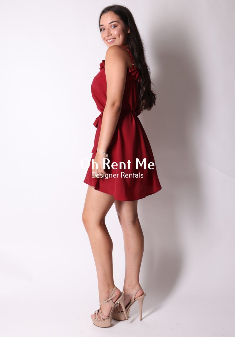 Sunday Dress - Maroon Clothing Amber Whitecliffe