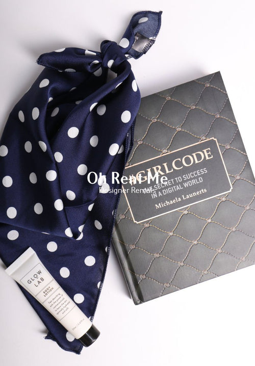 Midnight Dot Scarf Gift Card Oh Rent Me
