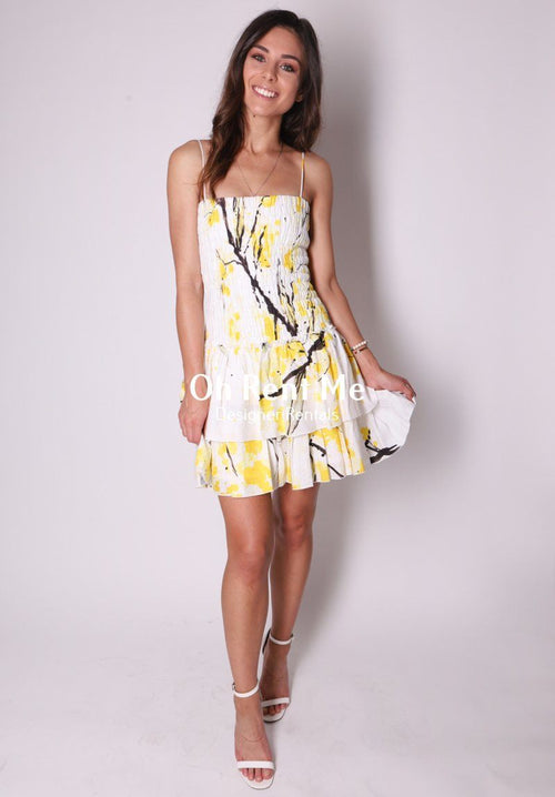Mimosa Shirred Mini Dress Clothing Aje