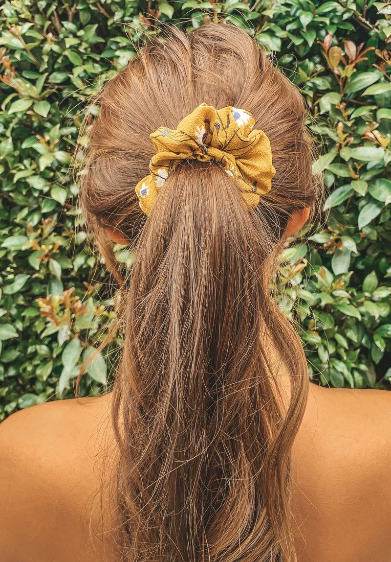 Mustard Flowers Scrunchie Gift Card Oh Rent Me