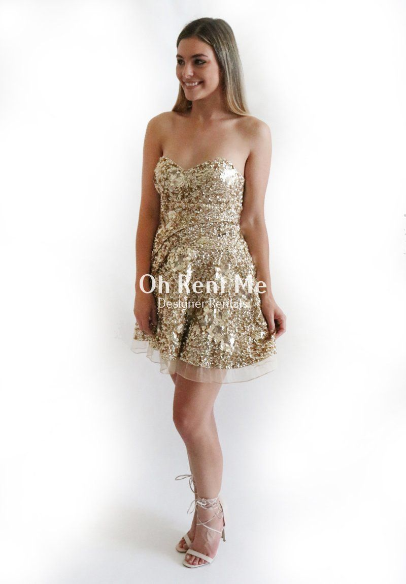 Gigi Dress in Gold Sequin – Oh Rent Me