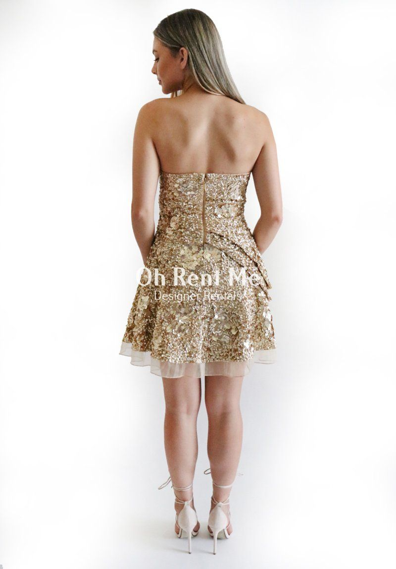 Gigi Dress in Gold Sequin