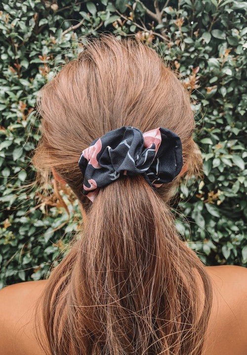 Navy Flamingo Scrunchie Gift Card Oh Rent Me