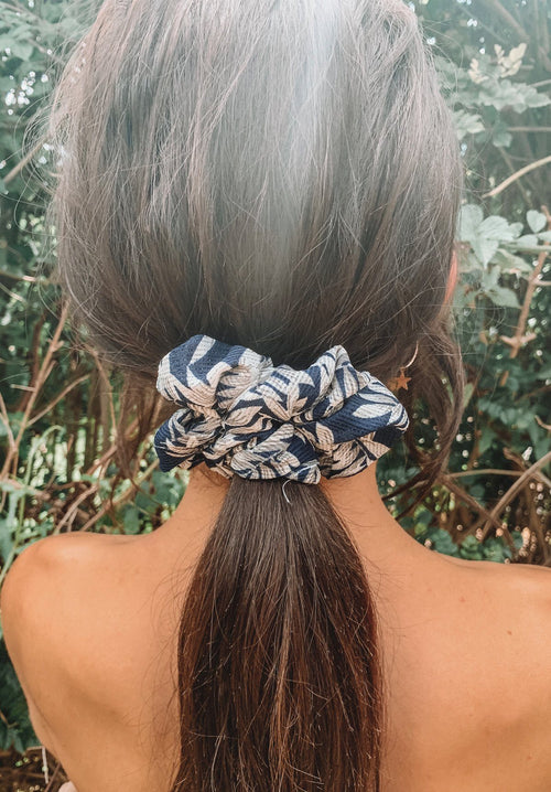 Navy Palm Print Scrunchie Gift Card Oh Rent Me