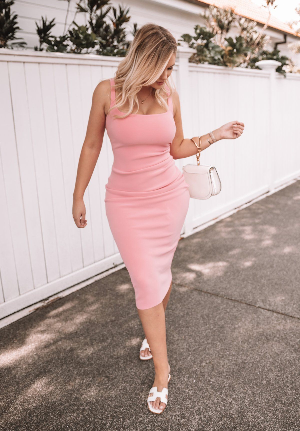 Paloma Pink Midi Clothing Bec and Bridge