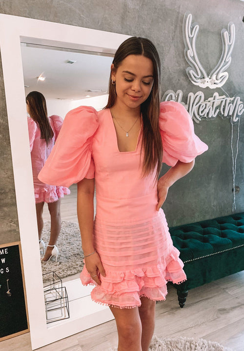 Pandora Dress - Pink Clothing Mackenzie Mode