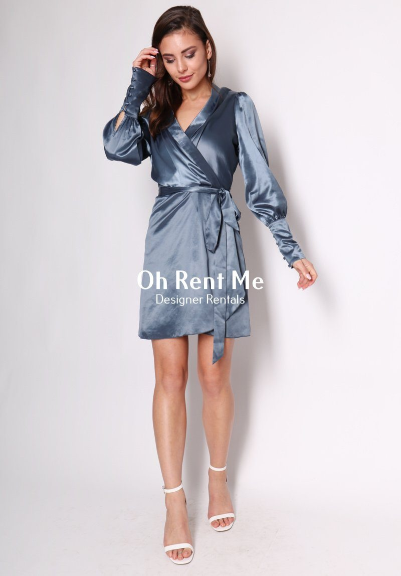 Party Wrap Dress - Steel Clothing Coop