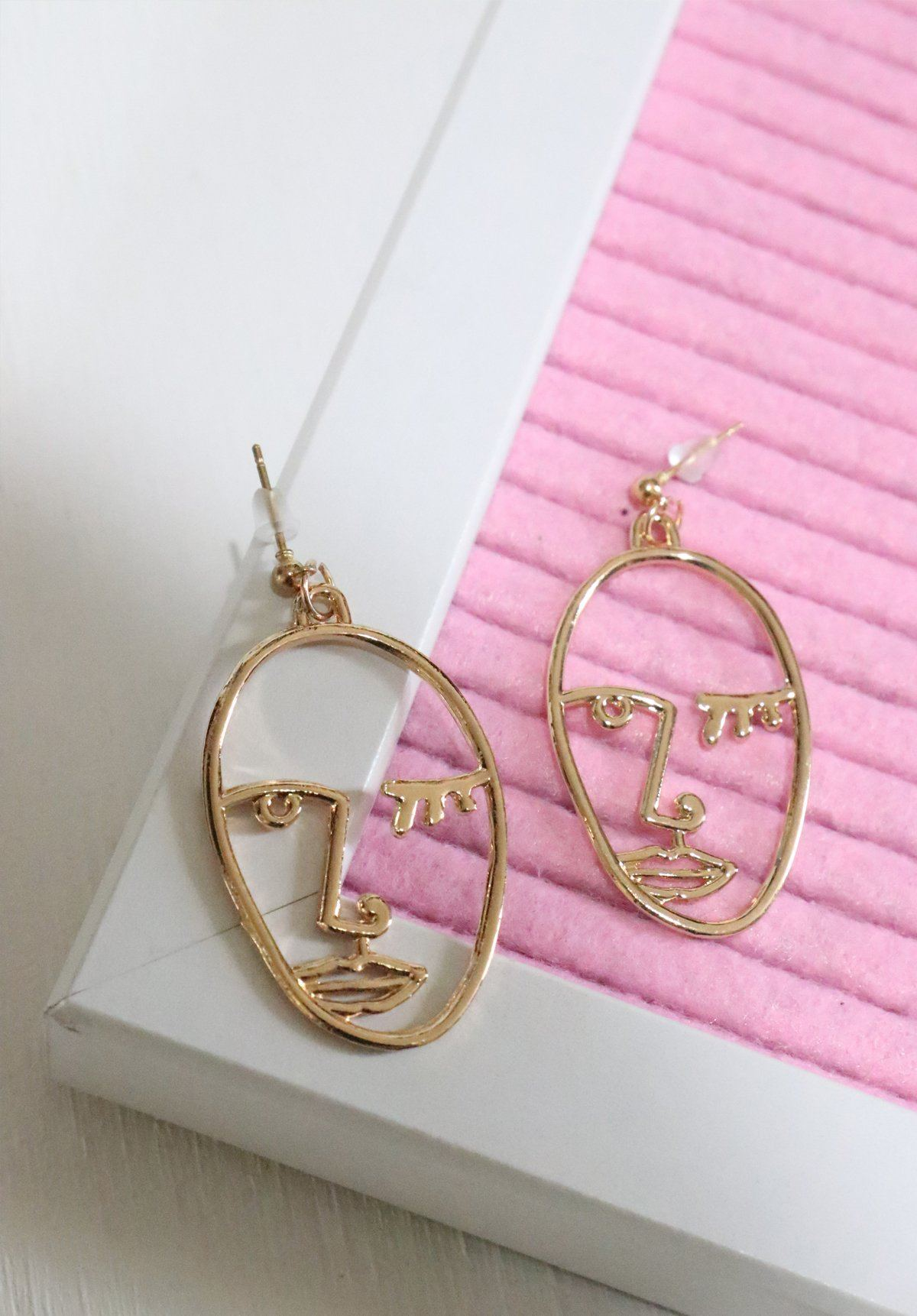 Portrait Earrings - Gold Gift Card Oh Rent Me
