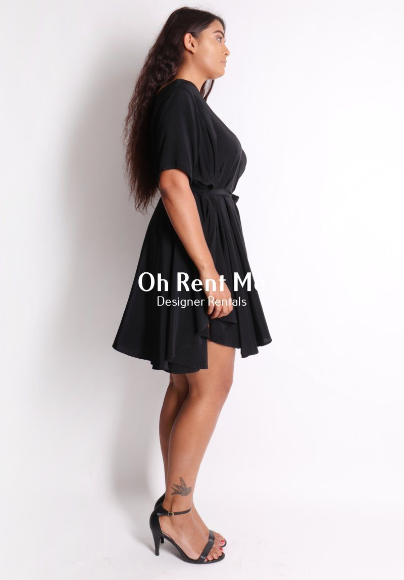 Rise Dress Black Clothing Miss Crabb
