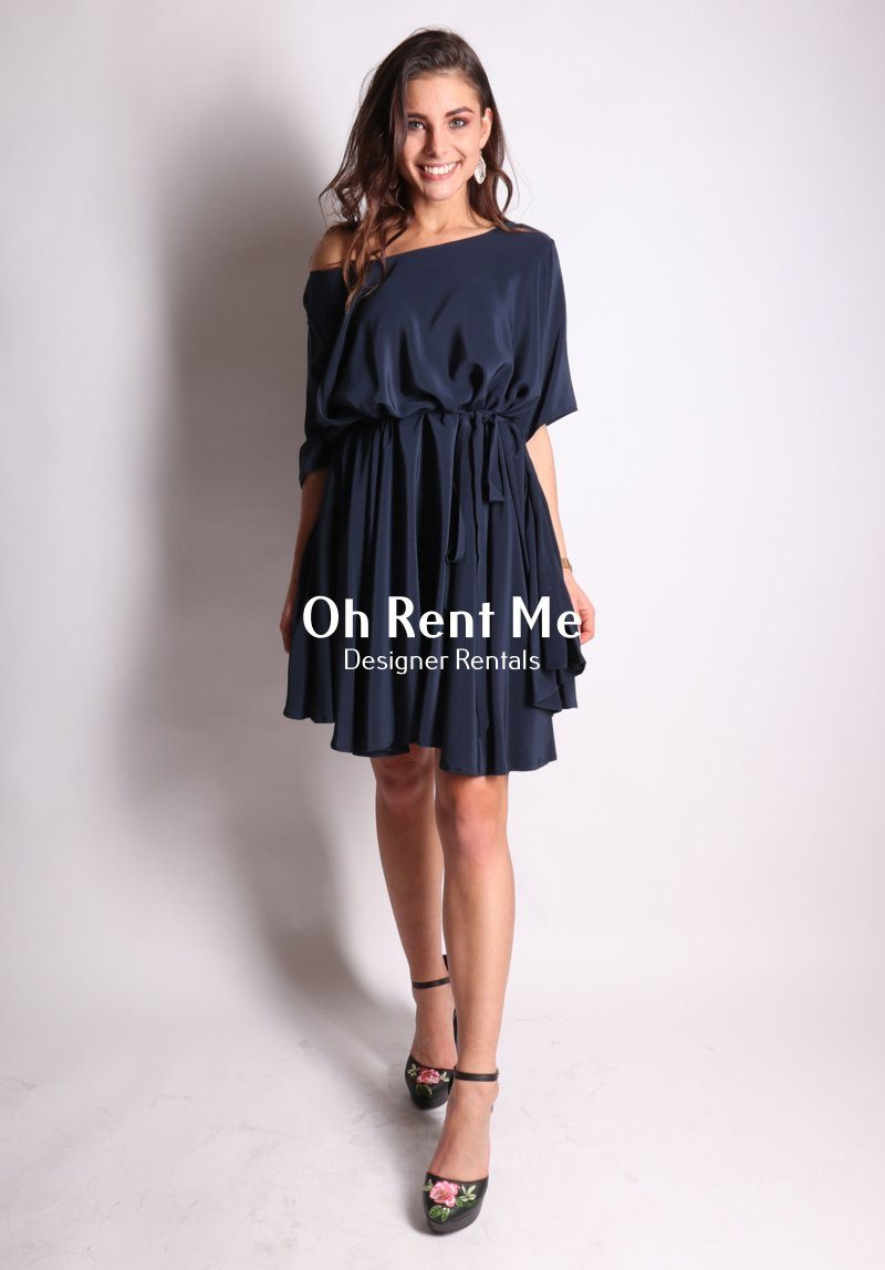 d09af6c624f Rise Dress Navy Clothing Miss Crabb