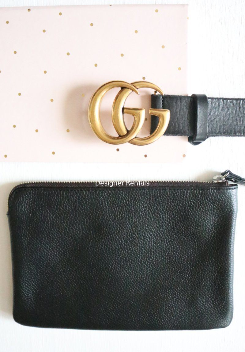Poppy Pouch - Foil Black Clothing Saben