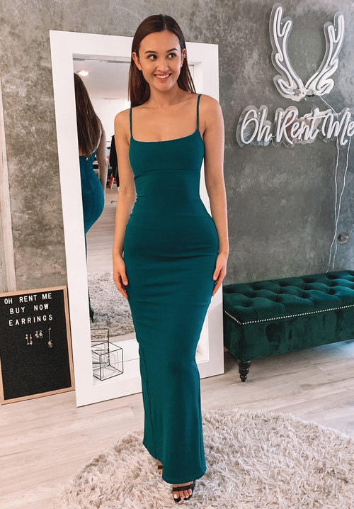 Bailey Gown - Teal Clothing Nookie