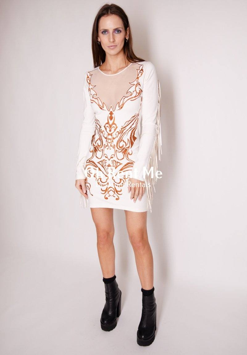 Western Rodeo Dress - White Clothing Stolen Girlfriends Club