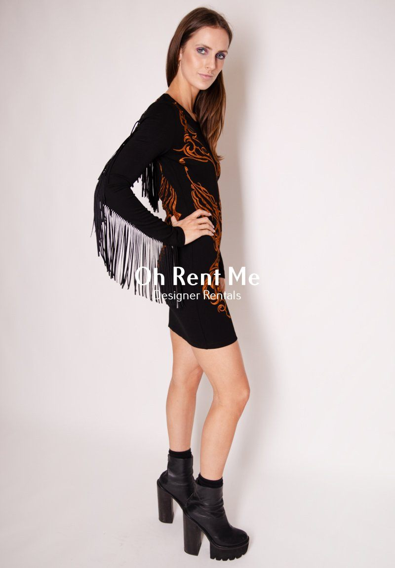 Western Rodeo Dress - Black Clothing Stolen Girlfriends Club