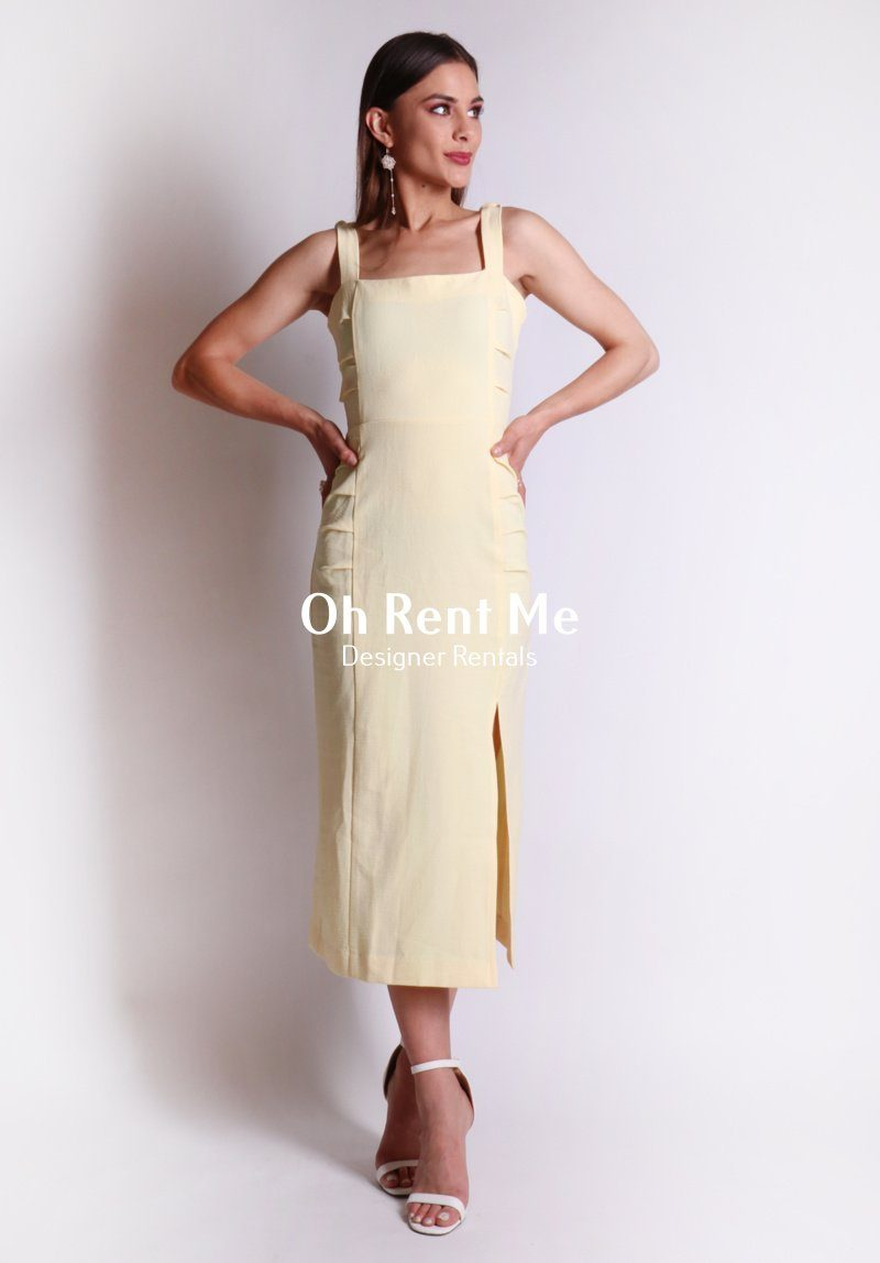 Bonita Dress - Yellow Clothing Bec and Bridge