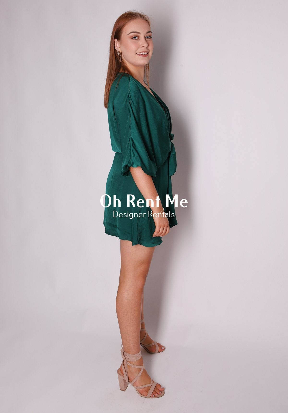 Yvonne Dress - Emerald Clothing Tussah