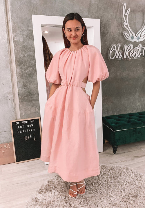 Mimosa Cutout Midi Dress Clothing Aje