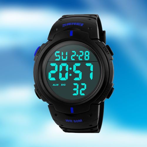 Digital Military Waterproof Sports 50M Dive Watch