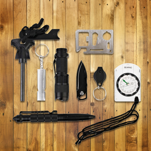 10 in 1 Professional Outdoor Survival Kit