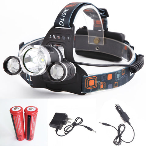 Ultra Bright Hands-Free 8000 Lumens Waterproof Rechargeable Headlamp