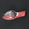 3in1 Pocket Folding Stainless Utensil