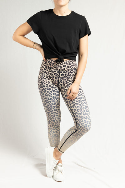 Vie Active Rockell 7/8 Legging- Sand Leopard Ombre