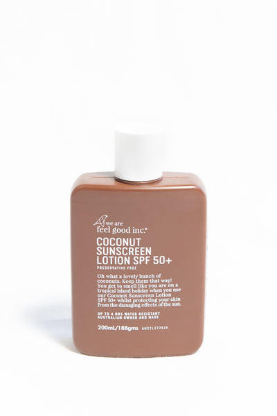 We Are Feel Good Inc. Coconut Sunscreen SPF 50+ 200ml - HyperLuxe Activewear