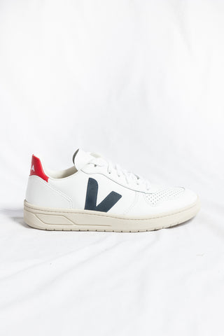 Veja V10 Leather Extra White Sneaker- Nautico Pekin