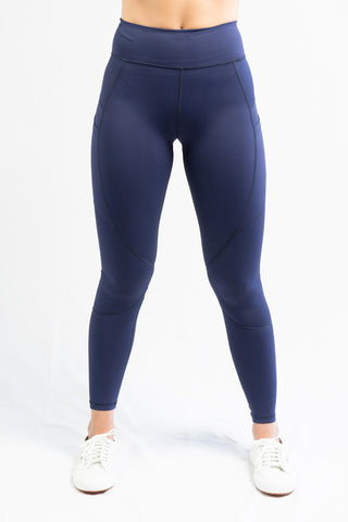 Vie Active Lili 7/8 Legging- Ink Blue - HyperLuxe Activewear