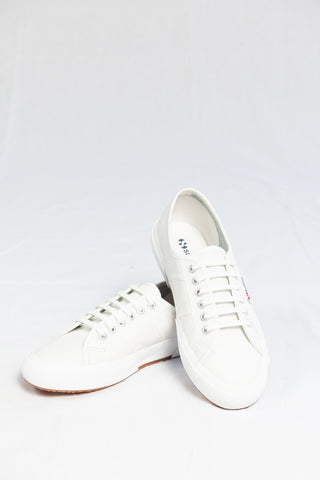Superga 2750 Cotu Leather Sneaker - White - HyperLuxe Activewear