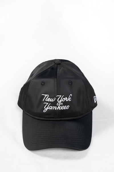 New Era X Hyperluxe NY Black Satin Script Cap - HyperLuxe Activewear