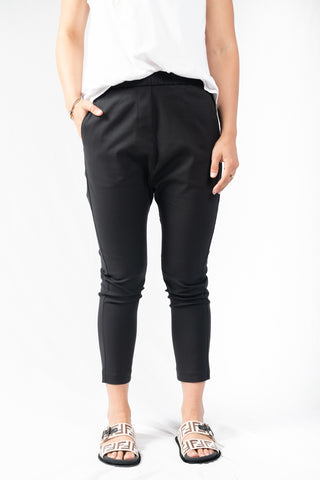 HyperLuxe Tailored Relaxed Pant - Black - HyperLuxe Activewear