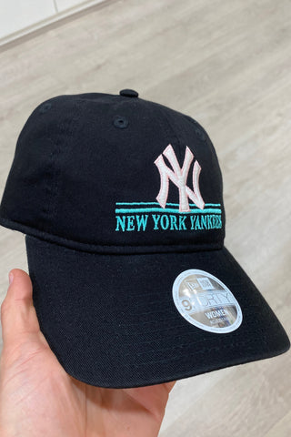 New Era 940 NY Story Cap- Black/ Blush/ Teal - HyperLuxe Activewear